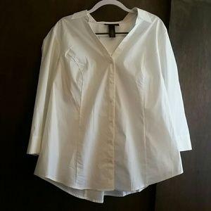 White button down professional  dress shirt